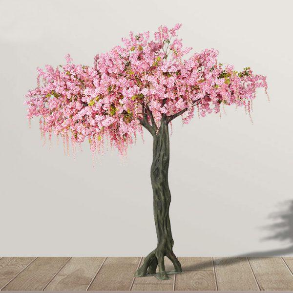 artistic fake flowering trees