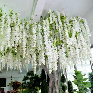 silk wisteria branches
