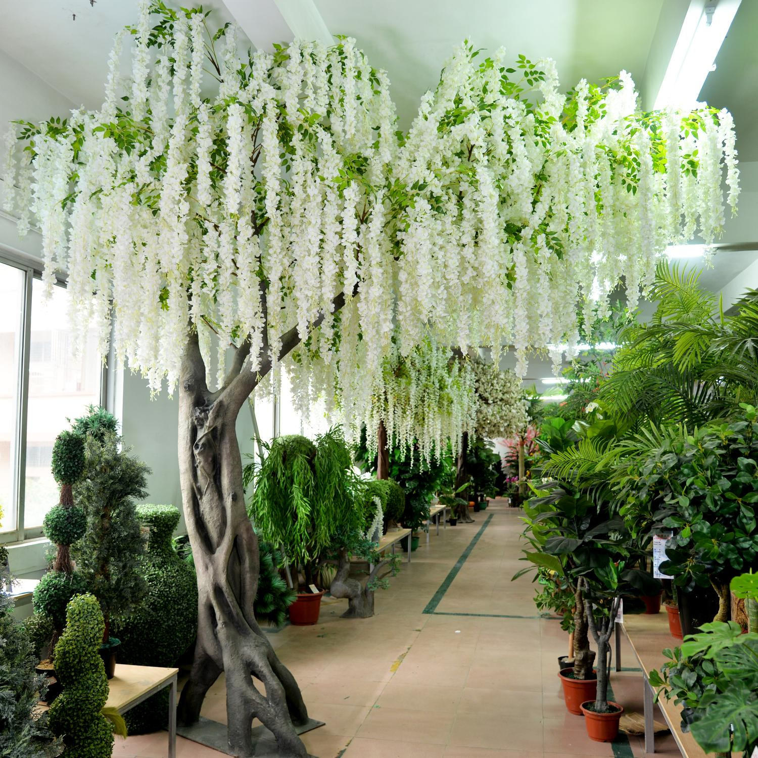 White Wedding Artificial Hanging Wisteria Flower Tree China Hac