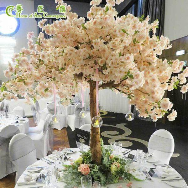 champagne silk cherry blossom tree