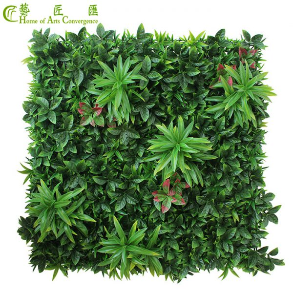 outdoor faux green wall