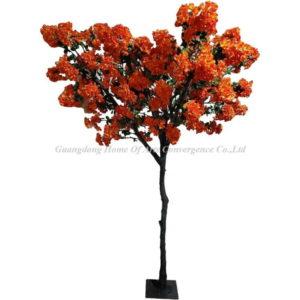 silk orange flowering tree