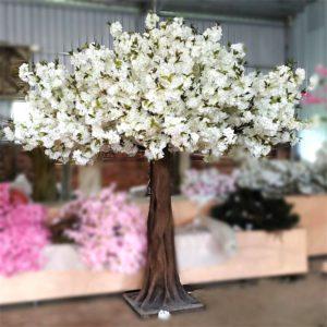 White fake sakura tree