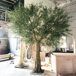 huge fake olive tree