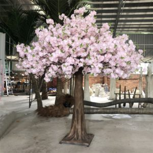 giant pink blossom tree for wedding event party decoration