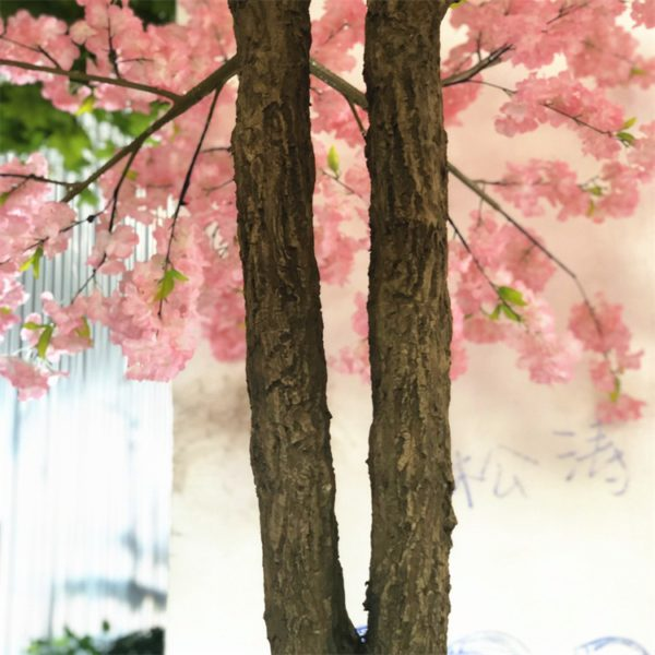 Artificial Pink Cherry Blossom Tree trunk