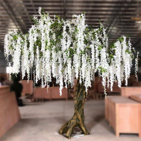 giant white wisteria tree artificial