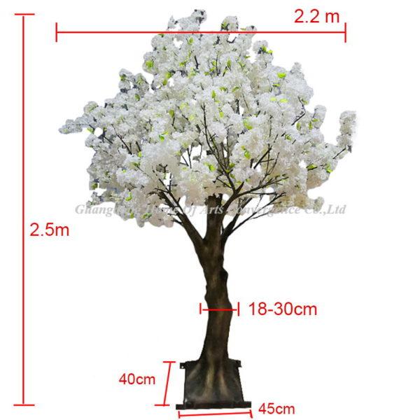 250CM white fake cherry tree