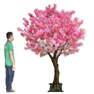 8ft pink fake cherry tree