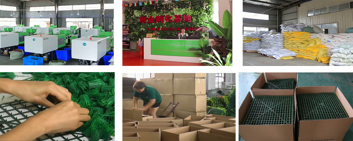 artificial green wall production