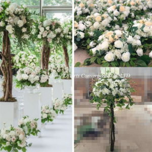 luxury boxwood flower trees for wedding centerpieces